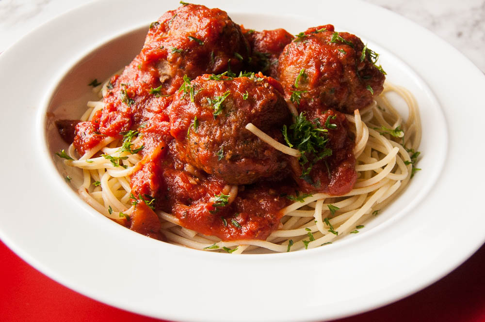 Spaghetti & Turkey Meatballs is a healthier take on this traditional comfort food.