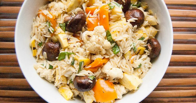 GRILLED VEGETABLES & ORZO SALAD
