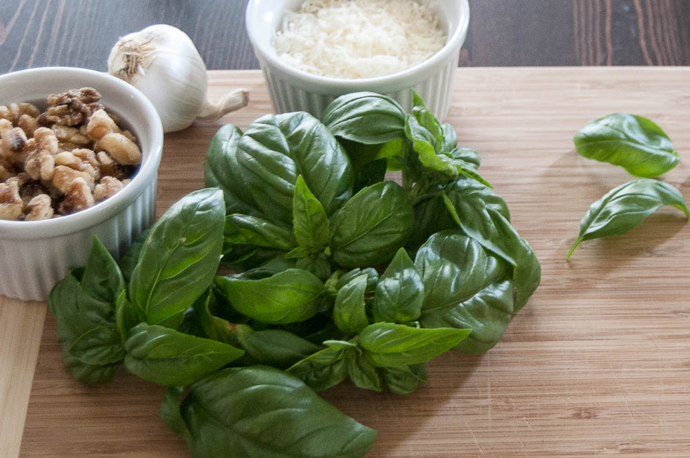 Delicious Pasta with Basil Pesto is a healthy and satisfying meal for the whole family.