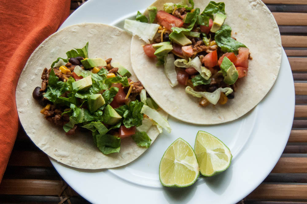 Easy and delicious Slow Cooker Turkey Tacos - 10 minutes to prep; 4-6 hours on low to cook.