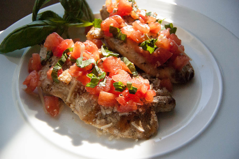 Grill up this Easy Bruschetta Chicken for a simple, healthy dinner.